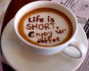Enjoy your coffee